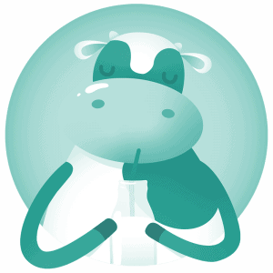 Milchtankstelle Logo blau