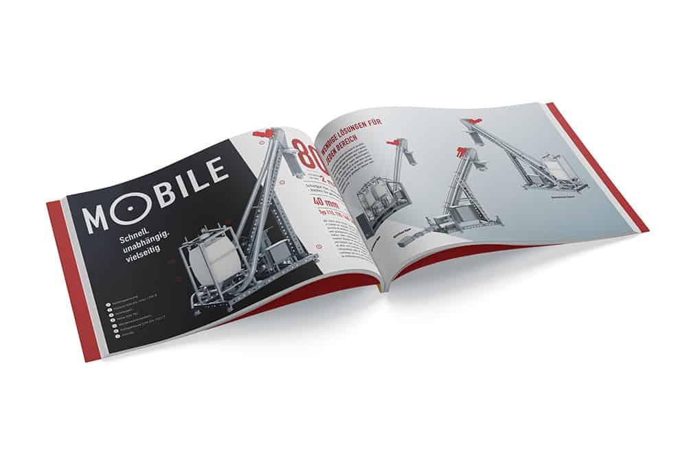 Katalog offen der Firma Schrage