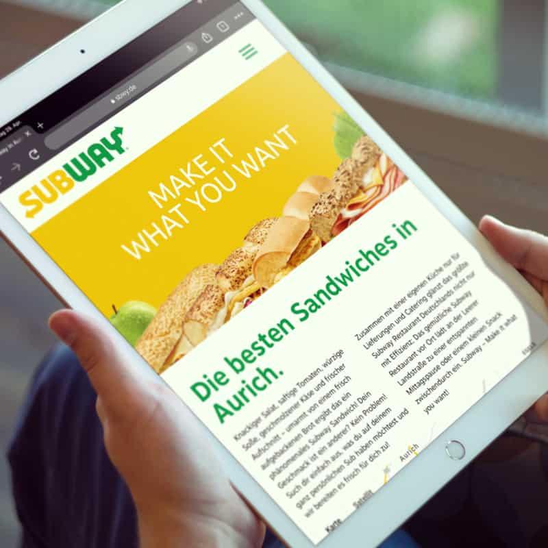 Subway Aurich Webdesign
